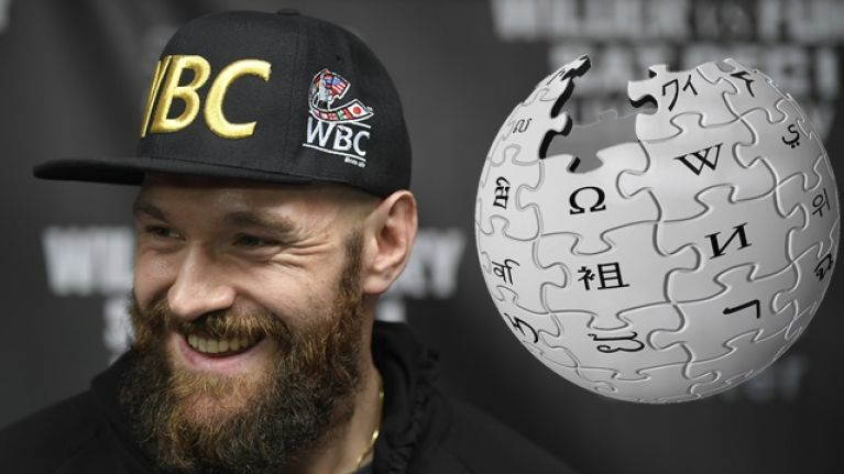 Tyson Fury got banned from Wikipedia for editing rival's page