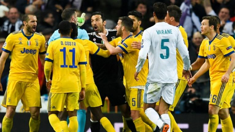 Gianluigi Buffon apologises for Champions League outburst at Michael Oliver
