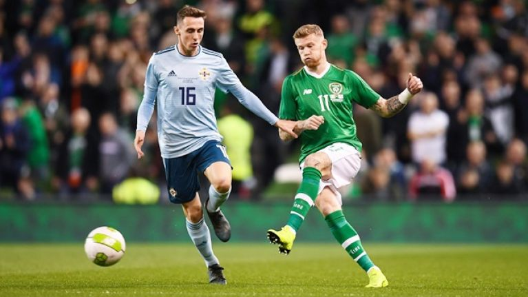 James McClean and national anthems booed by fans in tense Aviva clash