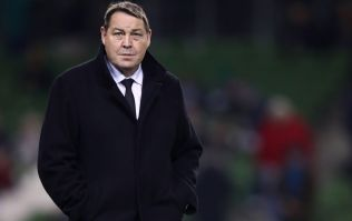 Steve Hansen reacts to Ireland's win over New Zealand
