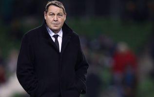 Steve Hansen reacts to Ireland's win over New Zealand