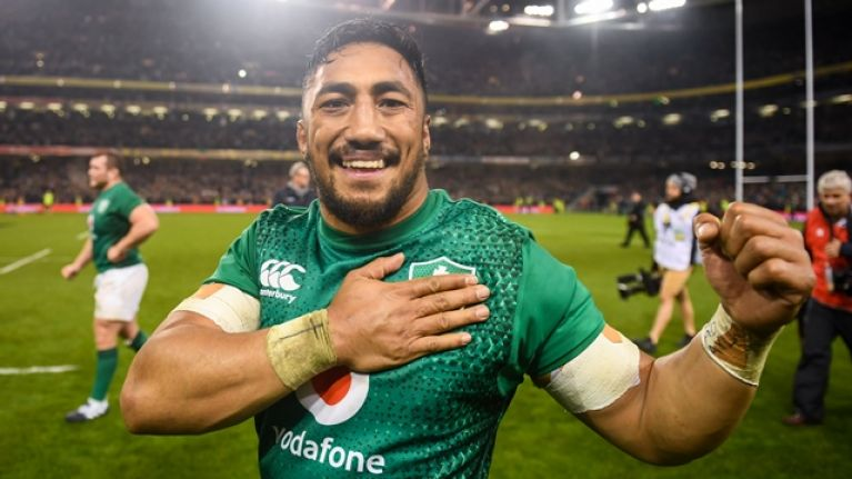 Bundee Aki claims rugby award every Irish supporter can get behind