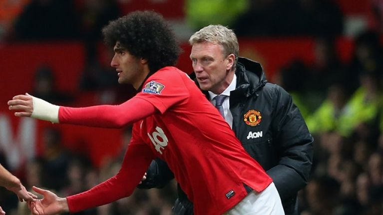 David Moyes proclaims Marouane Fellaini the best in the world with chest control