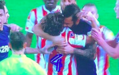 Derby player bites Joe Allen during brawl in Stoke game