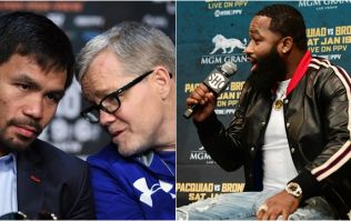 Adrien Broner makes tasteless Freddie Roach joke at press conference with Manny Pacquiao