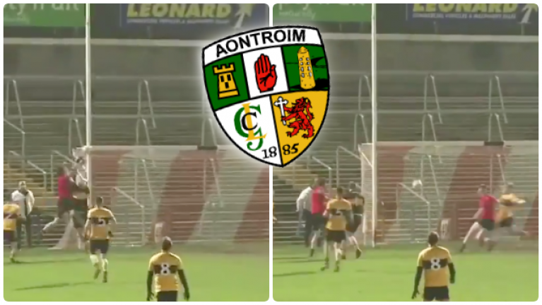 Antrim man produces finest goal-line clearance Gaelic football has ever seen