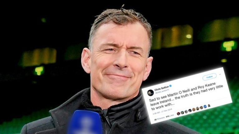 Reaction to Chris Sutton's Martin O'Neill tweet is bang on