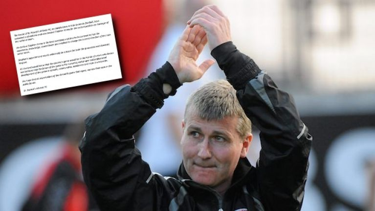 St. Patrick's Athletic start movement to get Stephen Kenny the Ireland job