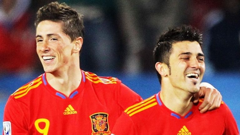 David Villa, Fernando Torres and Iniesta will all be in the same league next year