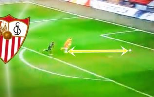 Sevilla goalkeeper saves defender's bacon with outrageous speed to prevent cock-up goal