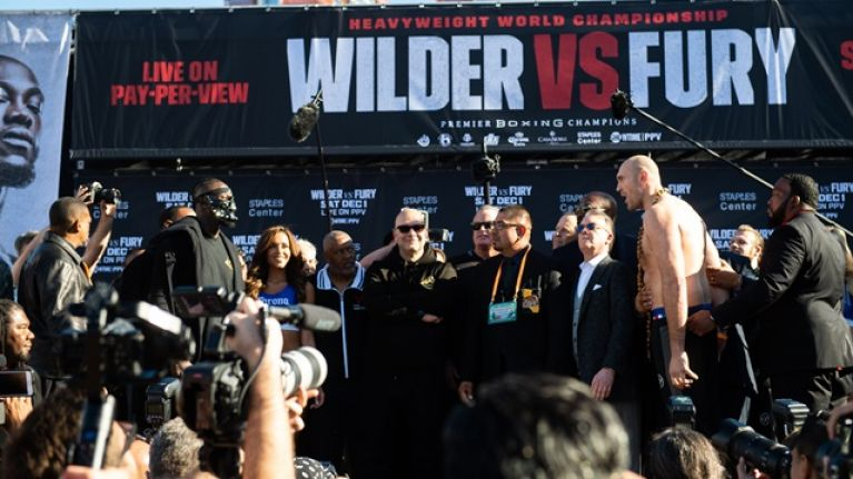 Tyson Fury found Deontay Wilder's official weight absolutely hilarious