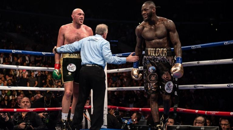 Fight fans hit back at video shared by Deontay Wilder after Tyson Fury draw