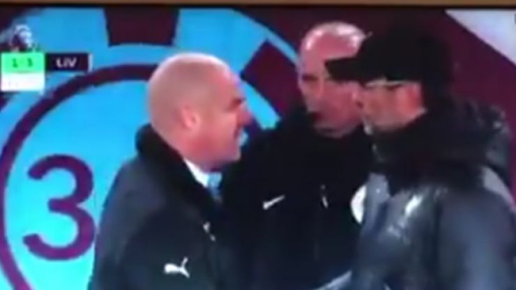 Jurgen Klopp and Sean Dyche have tetchy post-match exchange