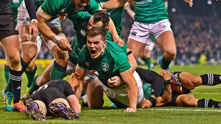 Jacob Stockdale on his two memorable chips in that All Blacks victory