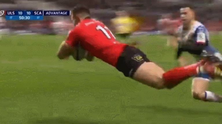 Jacob Stockdale scores another brilliant try for Ulster