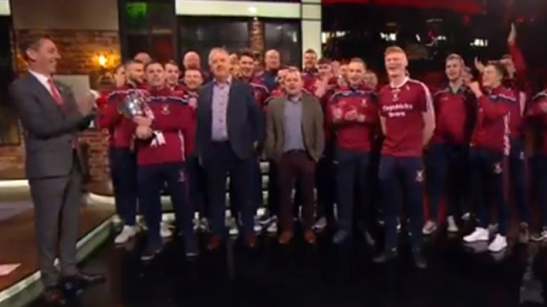 Mullinalaghta Team Start A Sing Song On The Late Show