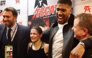 Anthony Joshua made a lovely post-fight gesture to Katie Taylor