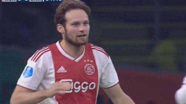 Daley Blind scores stunning hat-trick for Ajax in demolition of De Graafschap