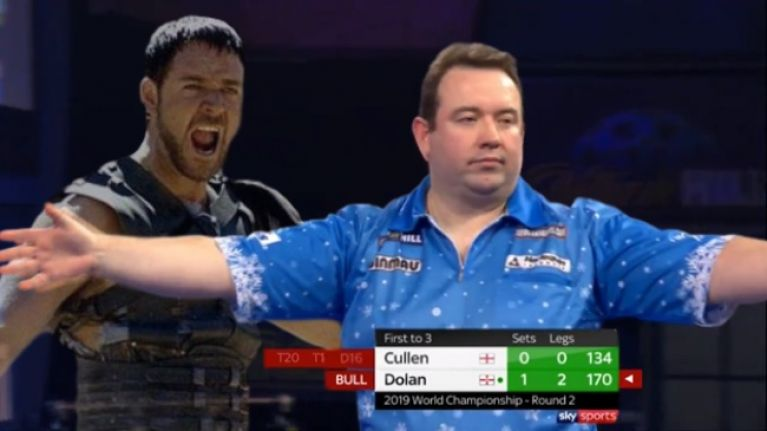 170 checkout, marriage proposal, 32 minutes - Brendan Dolan sets Ally Pally on fire