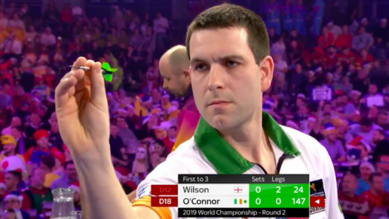 Willie O'Connor hits precocious checkout in best first set of competition