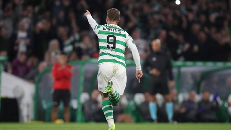 Celtic fans show support for Leigh Griffiths with wonderful banner in Europa League game