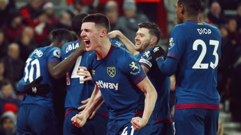 """""""Destined for the very top"""" - Jonathan Walters praises Declan Rice after his performance in West Ham win"""