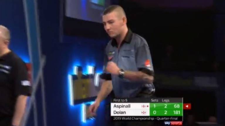 Nathan Aspinall smashes Brendan Dolan to advance to semi-final