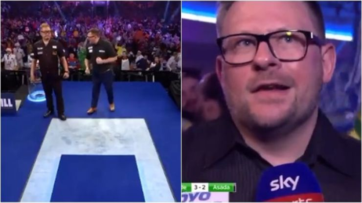 "James Wade criticised for ""bully"" behaviour and bizarre post-match interview"