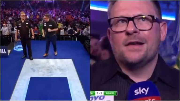 """James Wade criticised for """"bully"""" behaviour and bizarre post-match interview"""