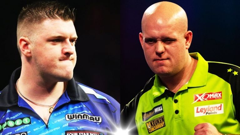 Can you name the darts player from their photo?