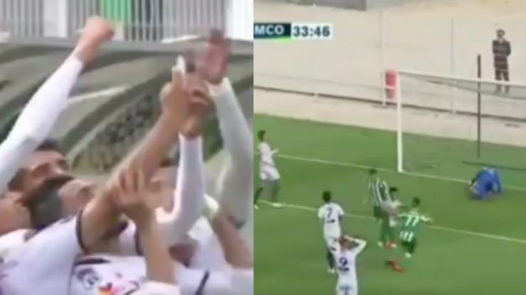 Youssoufia Berrechid attempts 'Balotelli selfie' celebration and immediately regret it
