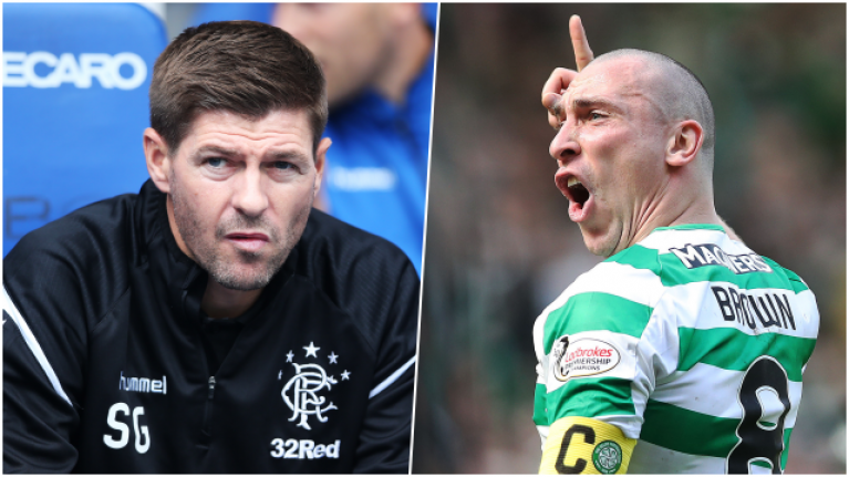 Steven Gerrard and Scott Brown facing bans following chaotic Old Firm