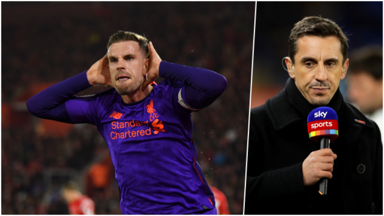 Jordan Henderson sought out Gary Neville for post-match taunt