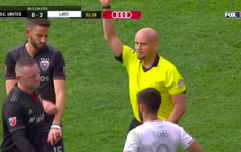 Wayne Rooney sent off for abysmal tackle with DC United 3-0 down
