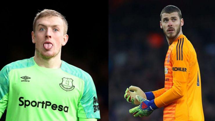 Manchester United consider replacing David De Gea with Jordan Pickford