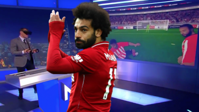 Jamie Carragher becomes Mo Salah to recreate one of the goals of the season