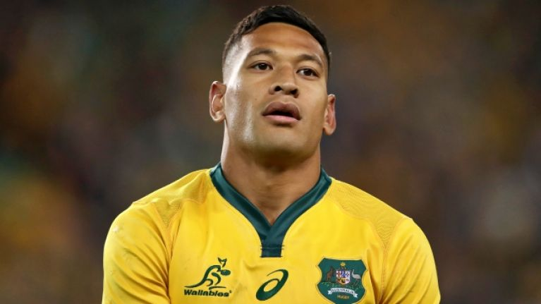 Israel Folau sacked by Rugby Australia over controversial social media post