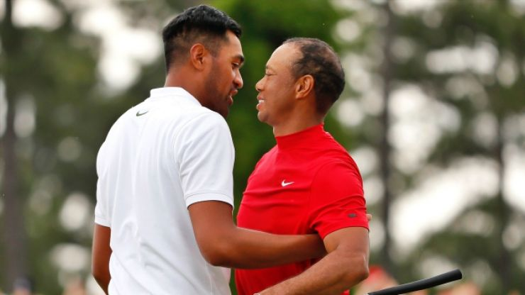 Tiger Woods took time out at end of his press conference to praise Tony Finau