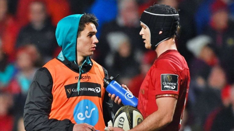 Tyler Bleyendaal tipped for Munster 10 jersey as Joey Carbery struggling