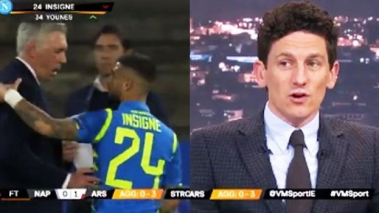 """""""I find that quite disrespectful"""" - Andrews lets Insigne have it after stroppy showing"""