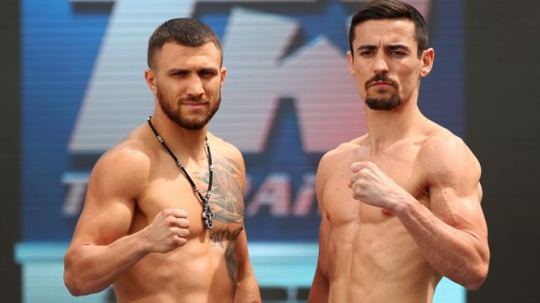 Glove dispute kicks off at Lomachenko vs. Crolla weigh-in