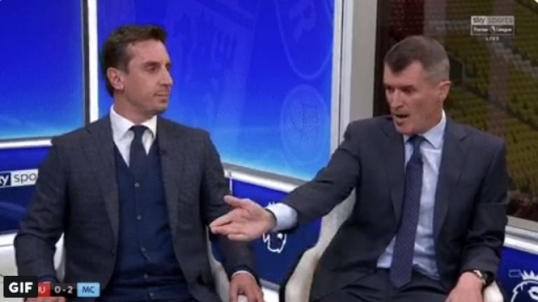 Roy Keane wouldn't have any of Gary Neville defending Man United's players