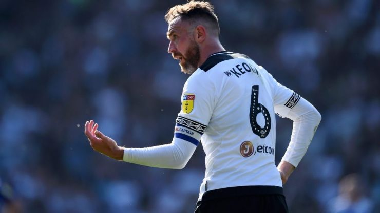 Richard Keogh reacts to being named Derby Players' Player of the Season