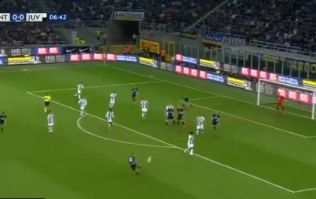 Radja Nainggolan smashes in cracking volley to give Inter the lead over Juve
