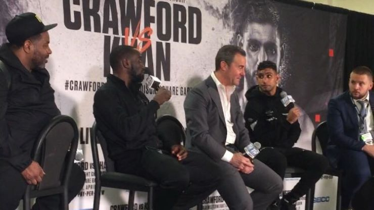 Amir Khan accused of taking 'a way out' after Terence Crawford low blow