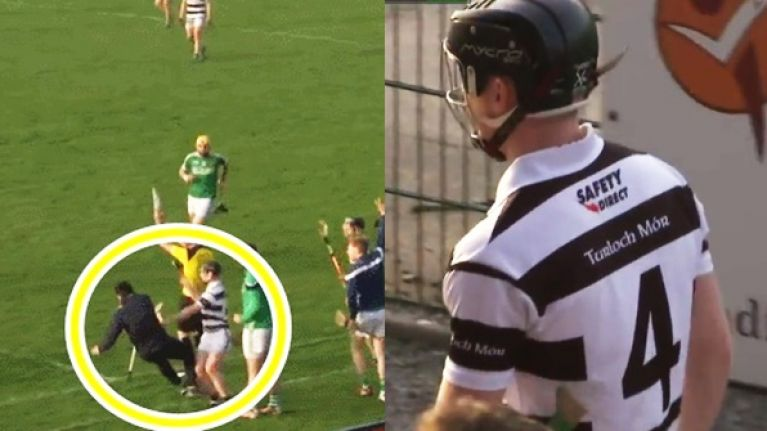 Turloughmore corner back flattens opposition mentor by complete accident, gets red card anyway