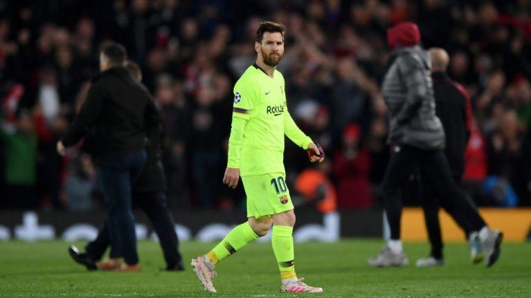 Liverpool ballboy gave Lionel Messi the finger during celebrations after comeback against Barcelona