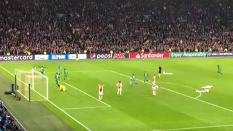 Fan footage captures Amsterdam silence as Moura fires home Spurs winner