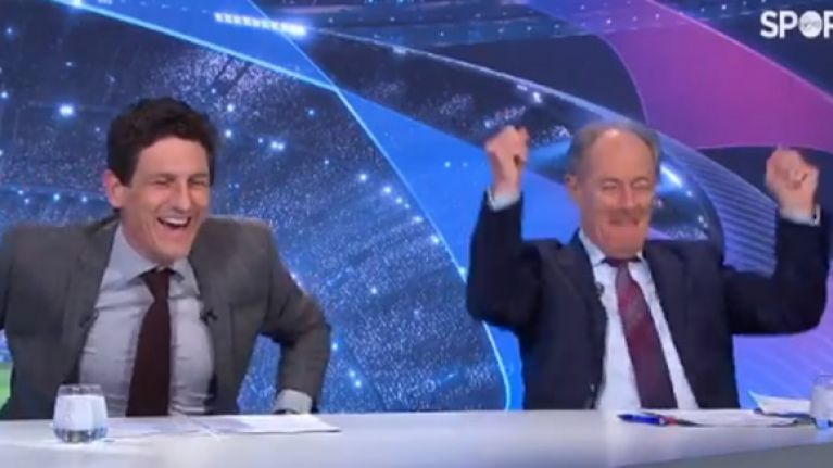 Brian Kerr's brilliant reaction to Moura's last minute winner against Ajax