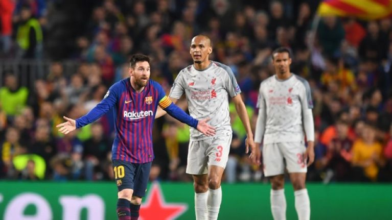 f57172fd6 Liverpool fans start petition to get Messi banned for  striking  Fabinho